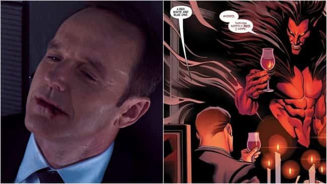 1. Phil Coulson has a bad habit of dying painfully. As seen in Marvel Comics, Deadpool shot him in the chest, and he died. However, when Coulson reappeared in the comic book, it was as if the murking had never taken place. The Squadron Supreme, his own superhero team, and a high-flying government job made him more influential than ever.