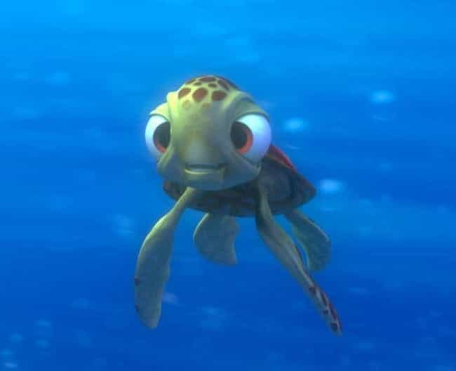 Squirt is listed (or ranked) 2 on the list The Cutest Pixar Animals