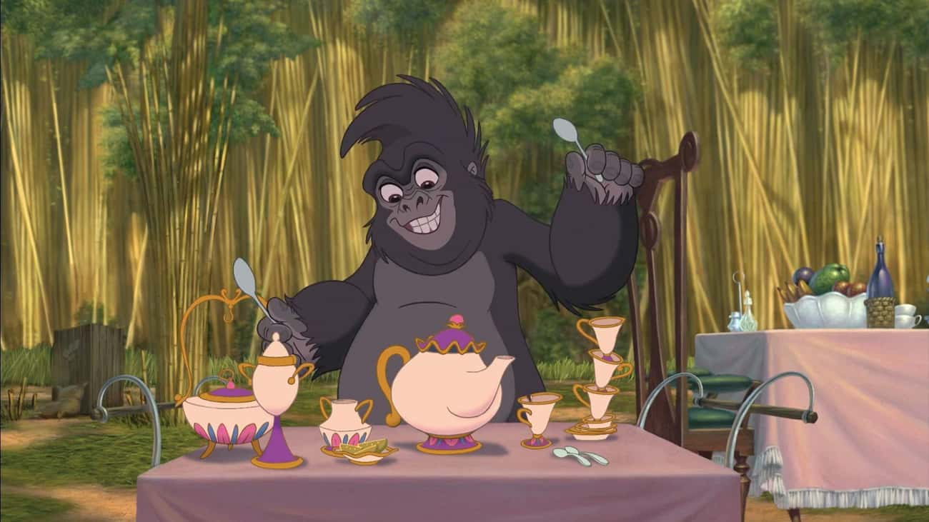 Mrs. Potts And Chip In 'Tarzan is listed (or ranked) 4 on the list Disney Animated Characters Who Secretly Appear In Other Disney Movies