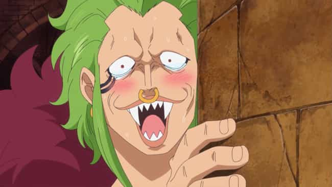 Bartolomeo is listed (or ranked) 3 on the list 13 Anime Characters Who Are Massive Fanboys of Something