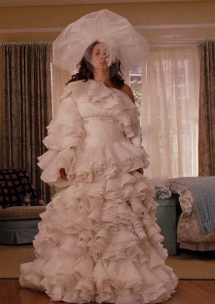 Lillian's Ridiculous Dress In 'Bridesmaids'