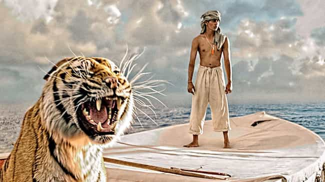 Life of Pi is listed (or ranked) 4 on the list The Best Movies with Only One Actor