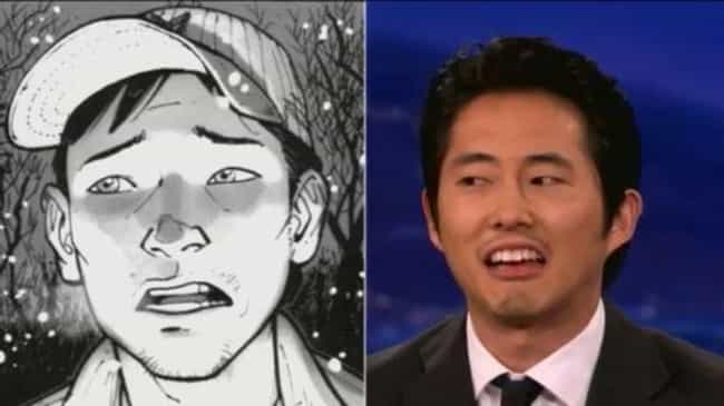 Glenn is listed (or ranked) 4 on the list The Greatest Walking Dead TV vs Comics Differences