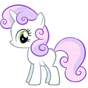 Sweetie Belle is listed (or ranked) 12 on the list The Best My Little Pony: Friendship Is Magic Characters