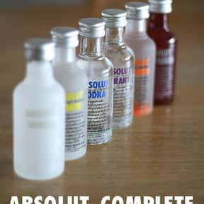 Absolut is listed (or ranked) 22 on the list The Best Top Shelf Alcohol Brands