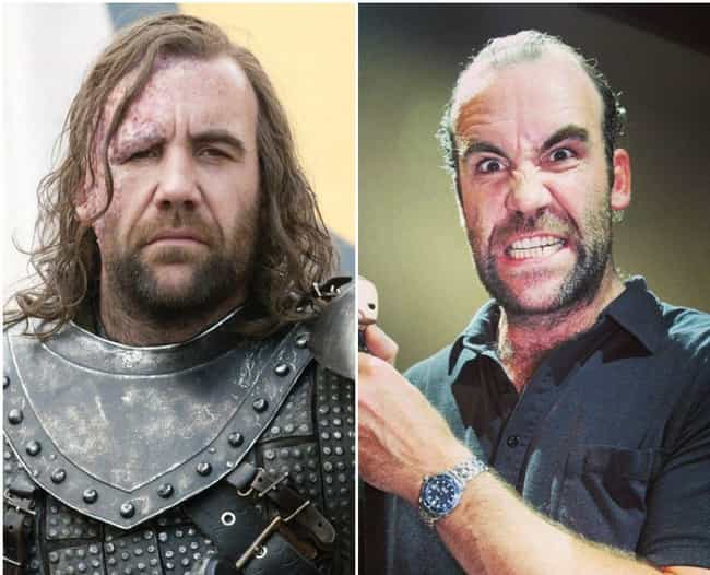 Sandor Clegane is listed (or ranked) 4 on the list Here's What The Game Of Thrones Characters Look Like Outside Of Westeros
