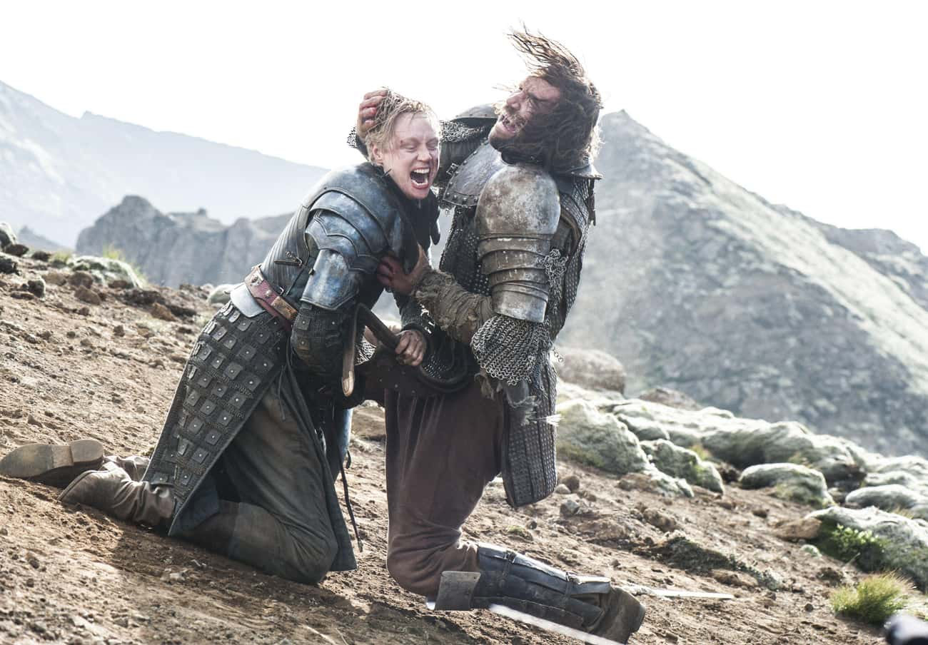 Brienne's Fight With The Hound Was The Key Turning Point For His Arc, Which Lead Him Directly To The Battle Of Winterfell