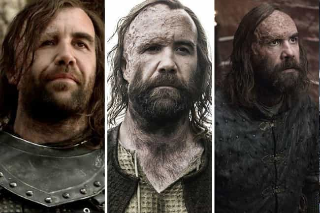 Sandor Clegane is listed (or ranked) 3 on the list All The Main GoT Character Arcs, Ranked