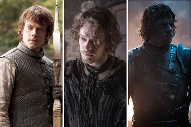 Theon Greyjoy is listed (or ranked) 4 on the list All The Main GoT Character Arcs, Ranked