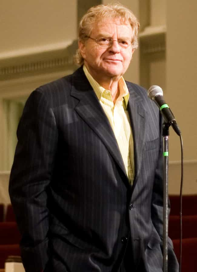 Jerry Springer is listed (or ranked) 4 on the list 20 Famous People Who Went to Law School