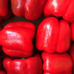 Red bell pepper is listed (or ranked) 16 on the list The Tastiest Vegetables Everyone Loves Eating