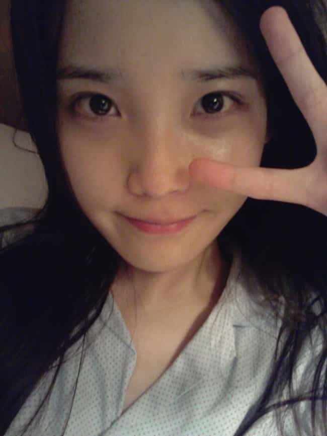 IU is listed (or ranked) 1 on the list Kpop Idols Without Makeup