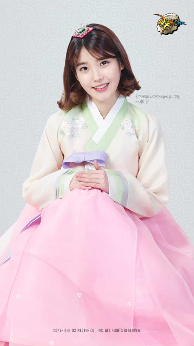 IU is listed (or ranked) 4 on the list Kpop Idols Dressed in Hanbok