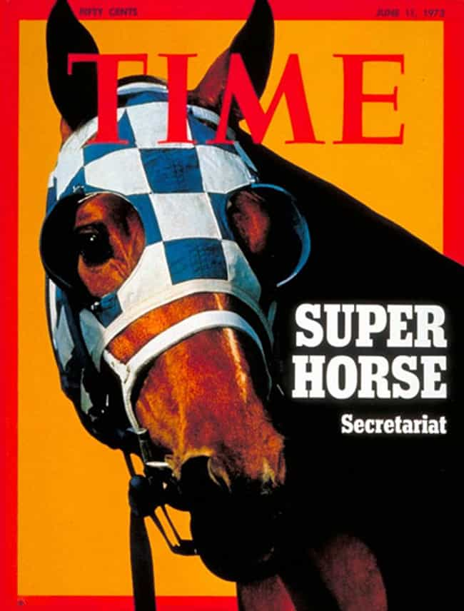 Secretariat is listed (or ranked) 4 on the list The Most Powerful Time Covers