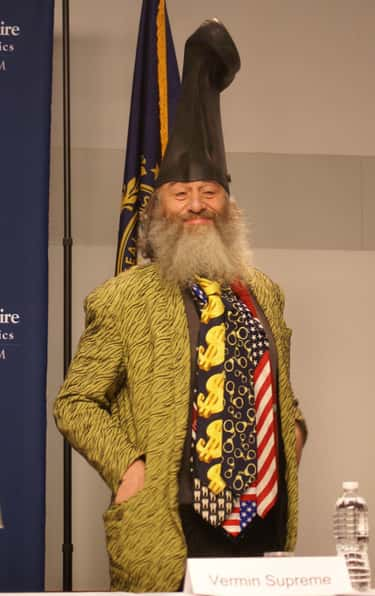 Vermin Supreme is listed (or ranked) 2 on the list The Best 2020 Independent Candidates