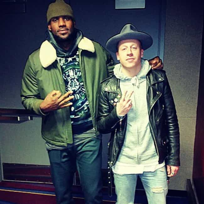 Macklemore is listed (or ranked) 3 on the list The Many Celebrity Friends Of LeBron James
