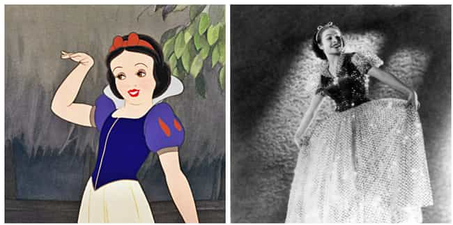 Snow White is listed (or ranked) 2 on the list Famous Cartoon Characters Whose Appearances Were Based On Real People