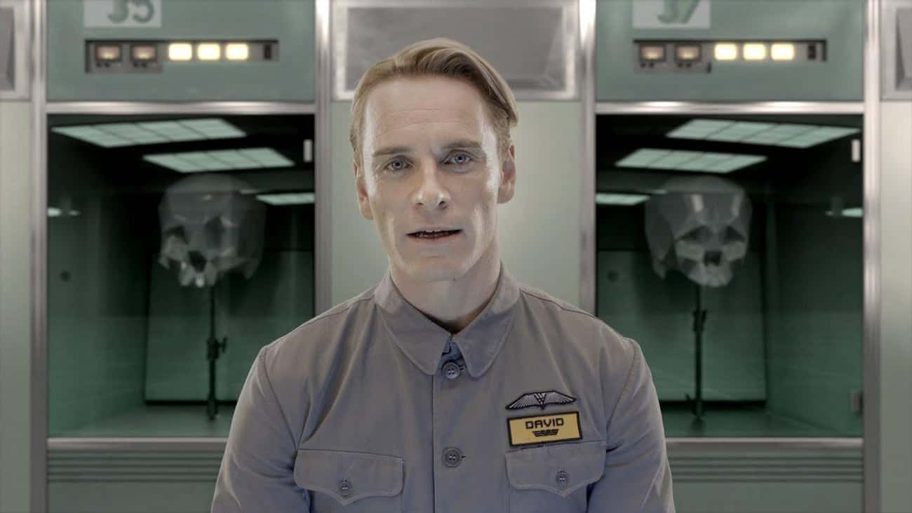 Michael Fassbender In 'Prometh is listed (or ranked) 4 on the list The Scariest Performances In Sci-Fi Movies