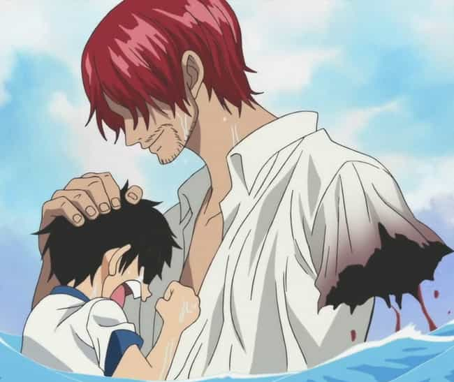 Shanks is listed (or ranked) 3 on the list 23 Anime Characters Who Don't Let Their Disabilities Stand In Their Way