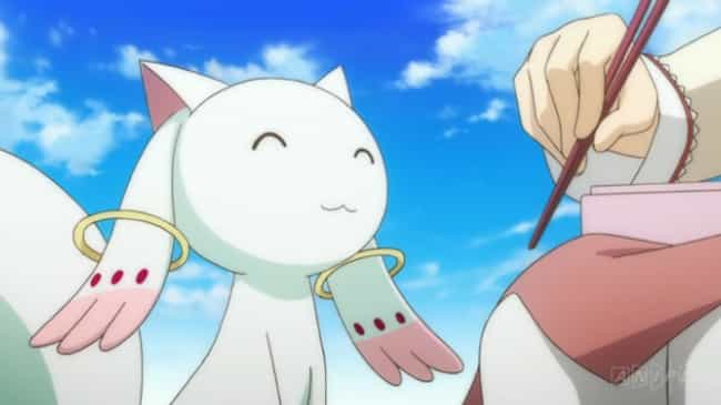 Kyubey is listed (or ranked) 3 on the list 20 Anime Villains Who Look Totally Innocent