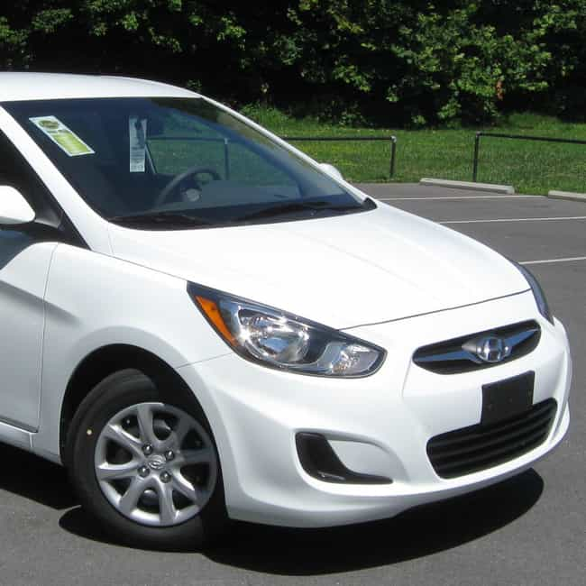 2012 Hyundai Accent Seda... is listed (or ranked) 1 on the list The Best Hyundai Accents of All Time