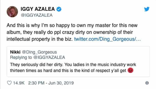 Iggy Azalea is listed (or ranked) 4 on the list Everyone Who's Weighed In On The Taylor Swift - Scooter Braun Feud
