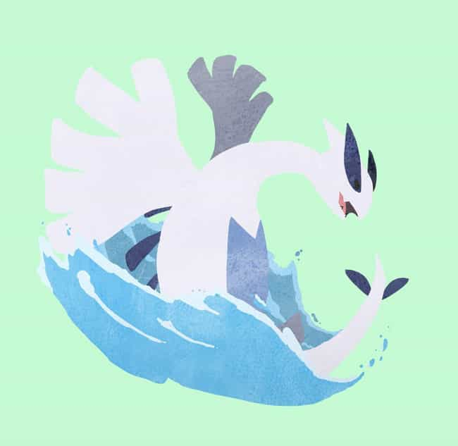 Lugia is listed (or ranked) 2 on the list 35 Pokemon Reimagined As Adorable Minimalist Art