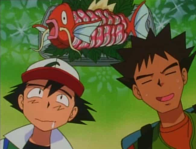 Magikarp is listed (or ranked) 4 on the list 16 Pokemon That Probably Taste Delicious