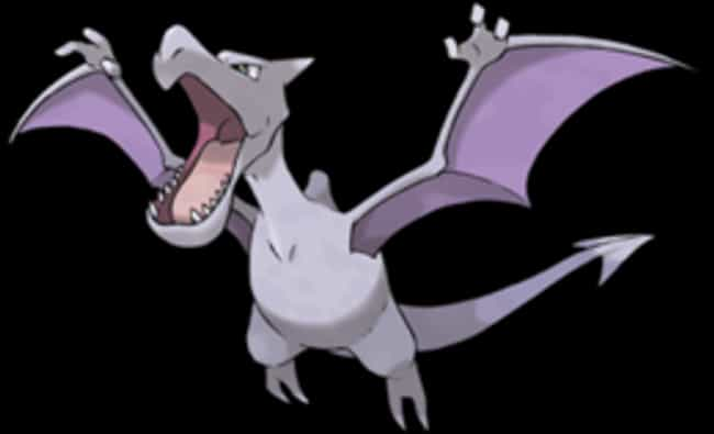Aerodactyl is listed (or ranked) 3 on the list The Best Rock Pokemon