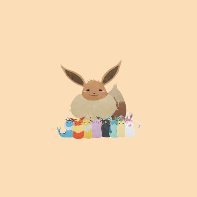 Eevee is listed (or ranked) 1 on the list 35 Pokemon Reimagined As Adorable Minimalist Art