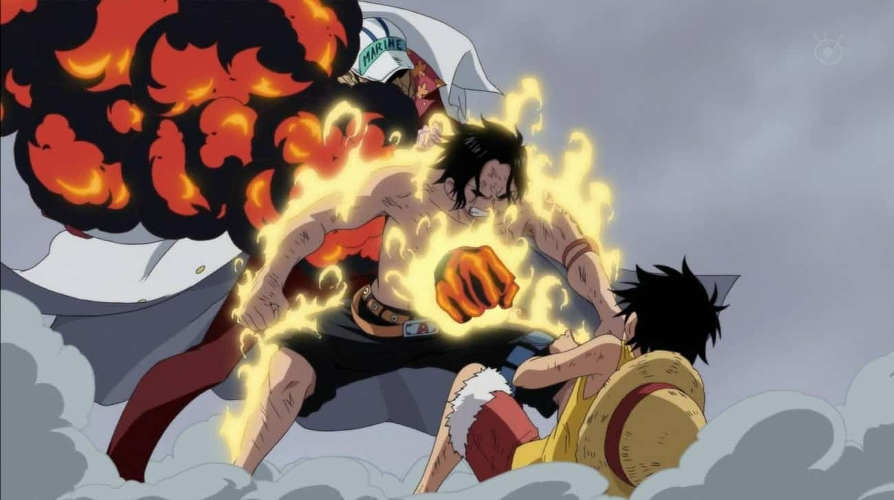 Portgas D. Ace Dies Shielding  is listed (or ranked) 1 on the list The 17 Most Heroic Anime Sacrifices Of All Time