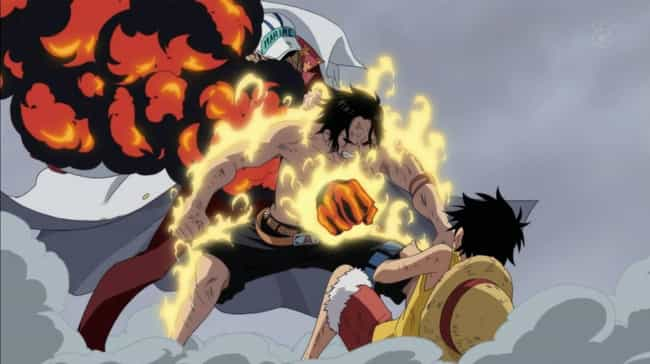 Portgas D Ace Dies Shielding Luffy In One Piece