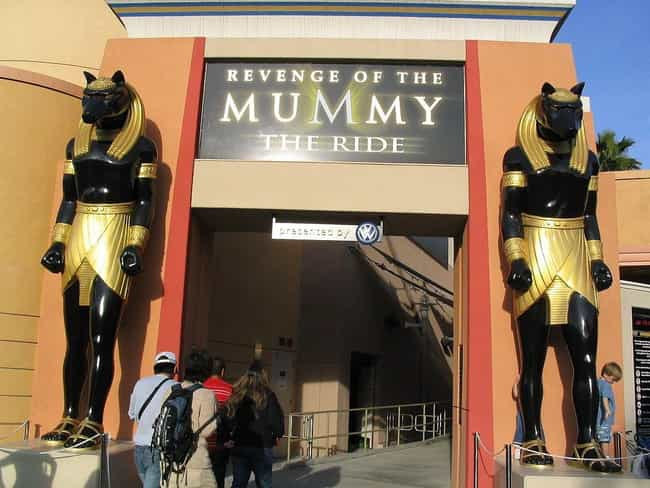 Revenge of the Mummy is listed (or ranked) 3 on the list 26 Disturbing Universal Studios Horror Stories