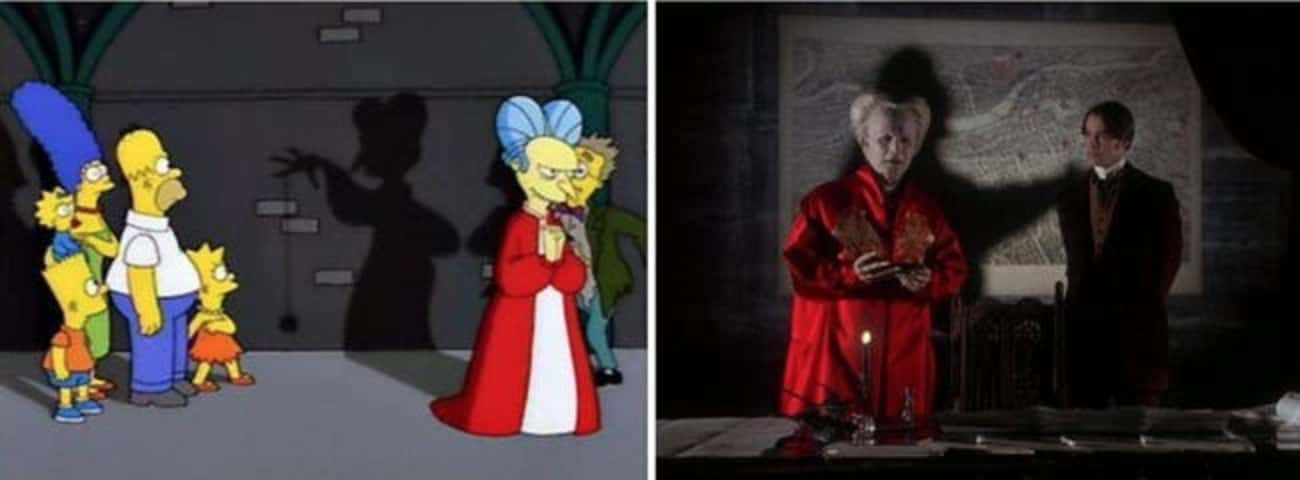 'Bart Simpson's Dracula' Refer is listed (or ranked) 4 on the list Horror Movie References In 'The Simpsons' 'Treehouse Of Horror' Specials