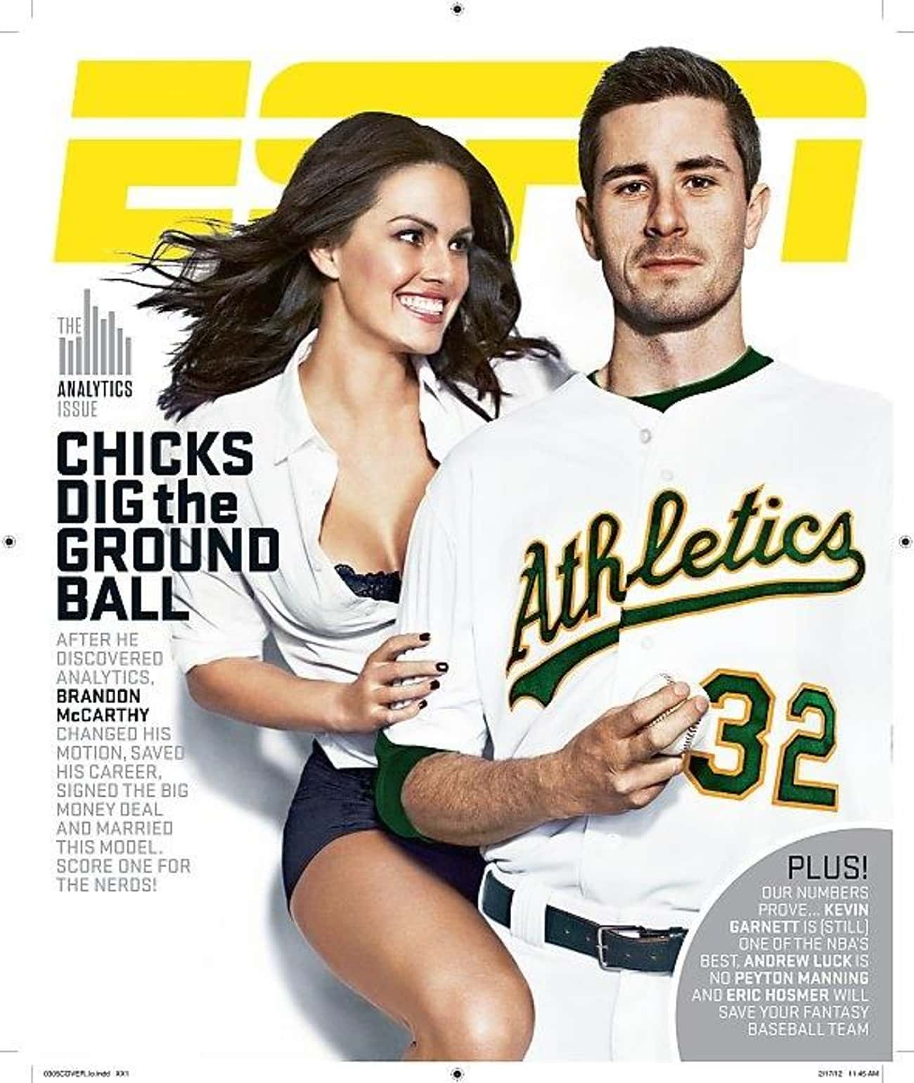 Brandon McCarthy is listed (or ranked) 1 on the list The Best ESPN Magazine Covers