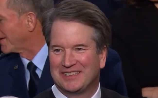 Brett Kavanaugh is listed (or ranked) 4 on the list US Politicians' Reactions To President Trump's State Of The Union