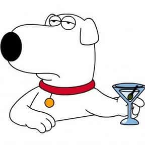Brian Griffin is listed (or ranked) 5 on the list Cartoon Characters You Totally Want To Have A Beer With