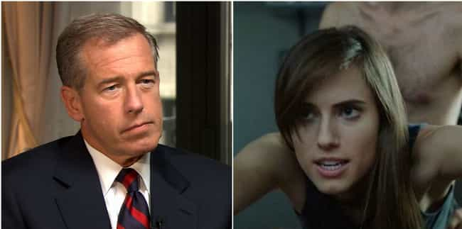 Brian Williams is listed (or ranked) 3 on the list Here's How Parents Of Celebrities Felt Watching Their Famous Kids' Sex Scenes