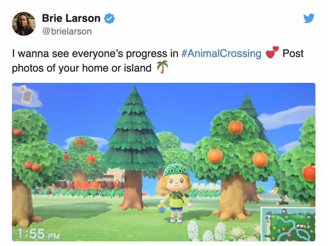 Brie Larson is listed (or ranked) 2 on the list Celebrities Who Play 'Animal Crossing: New Horizons'