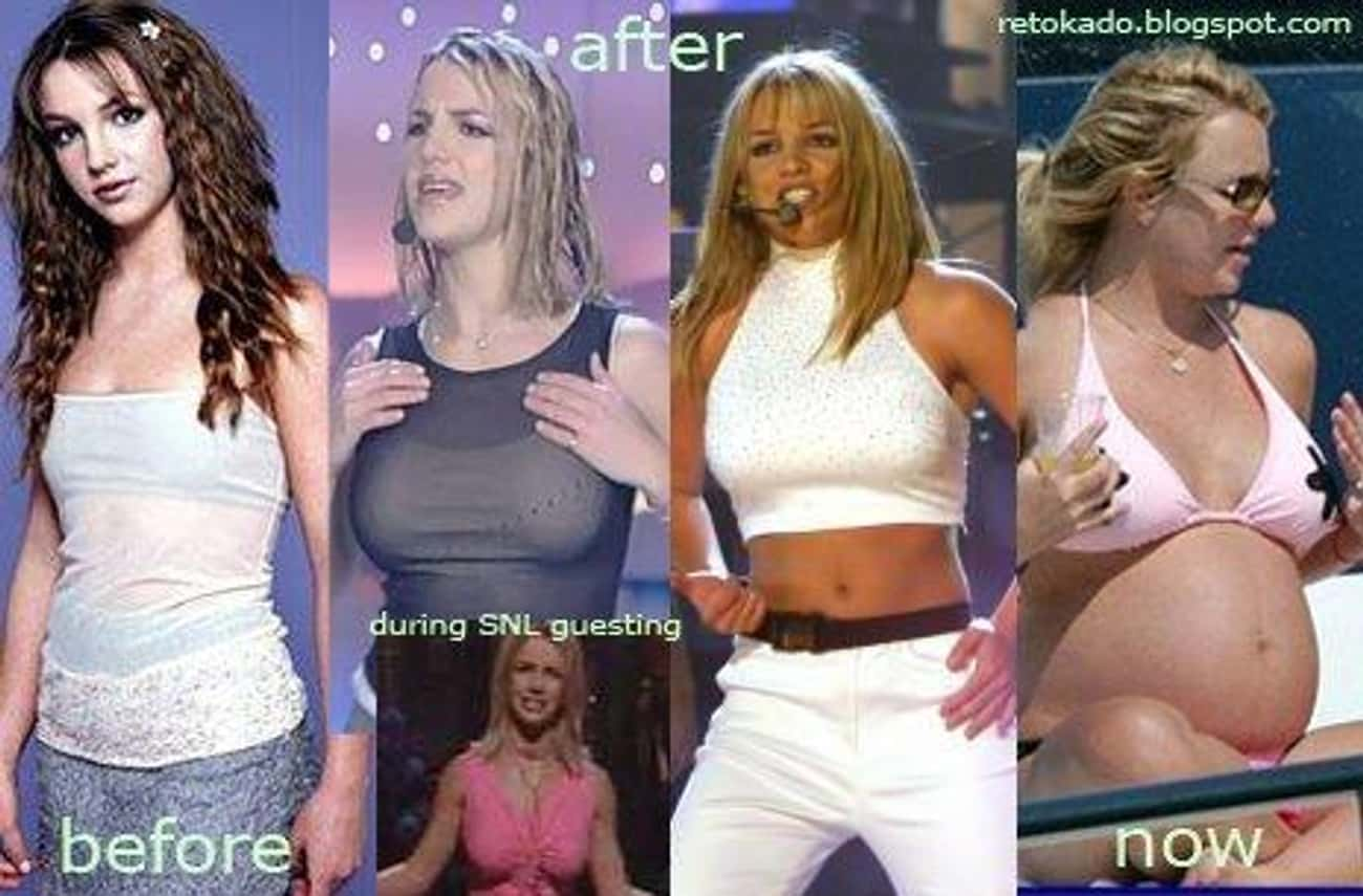 Britney Spears is listed (or ranked) 3 on the list Celebrities with Fake Boobs