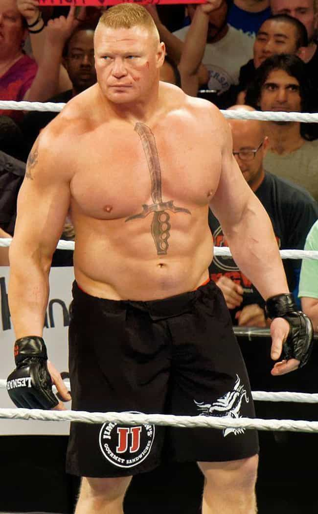 Brock Lesnar is listed (or ranked) 2 on the list Athletes Who Became Wrestlers