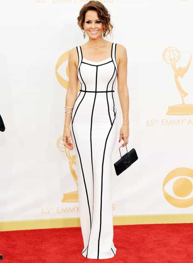 Brooke Burke Charvet is listed (or ranked) 3 on the list The Most Beautiful Celebrity in a Black & White Dress