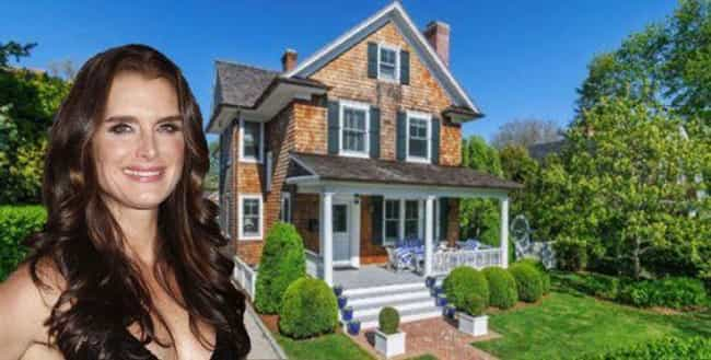 Brooke Shields is listed (or ranked) 3 on the list 29 Celebrities Who Own Gorgeous Homes in the Hamptons