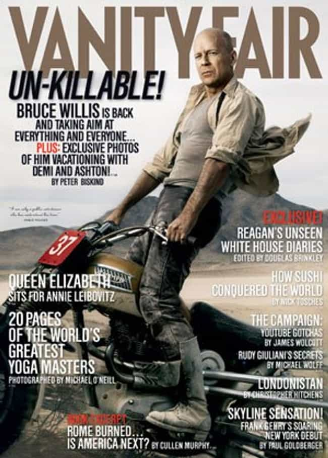 Bruce Willis is listed (or ranked) 3 on the list The Best Vanity Fair Covers