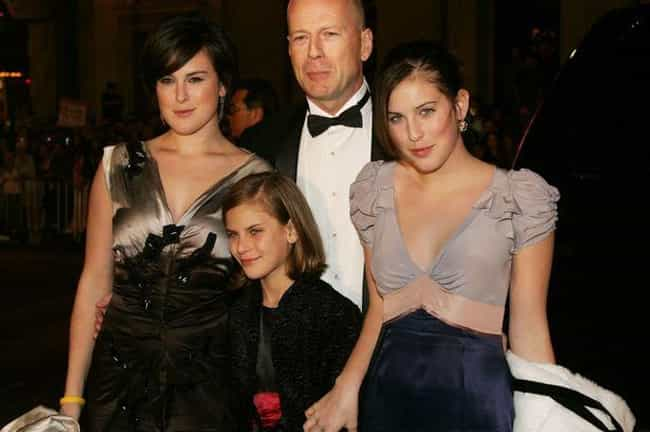 Bruce Willis is listed (or ranked) 4 on the list 17 Celebrities with Kids Born Decades Apart