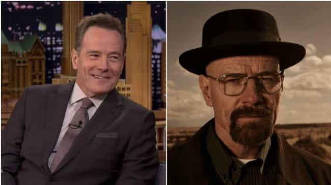 Bryan Cranston is listed (or ranked) 3 on the list Actors Known for Roles Opposite to Who They Are in Real Life