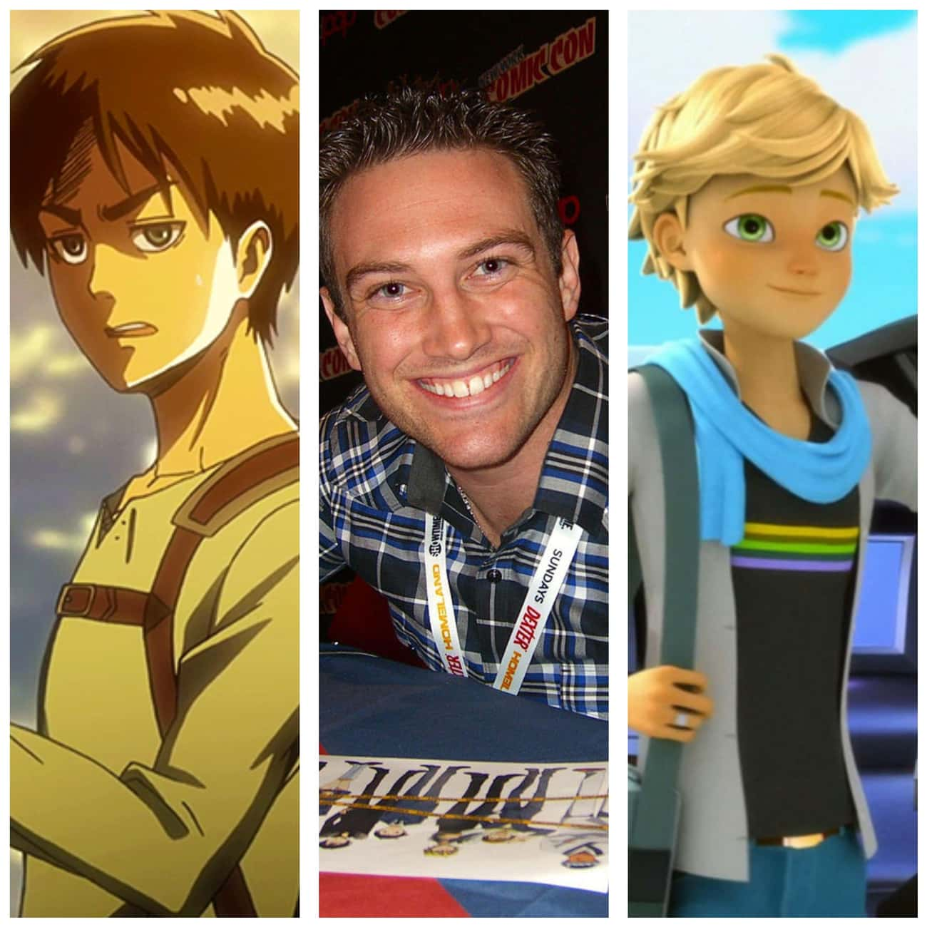 Bryce Papenbrook From 'Attack  is listed (or ranked) 4 on the list 15 Times Anime Voice Actors Appeared In Western Cartoons
