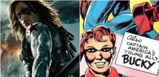 Bucky Barnes is listed (or ranked) 2 on the list Your Favorite Marvel Movie Characters, Ranked By How Old Their Comics Are