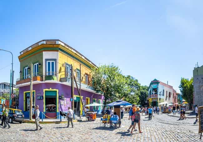 Buenos Aires is listed (or ranked) 1 on the list The Most Beautiful Cities in South America