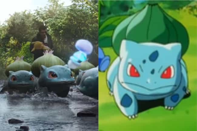 Bulbasaur is listed (or ranked) 3 on the list How The 'Detective Pikachu' Pokémon Compare To Their Anime Counterparts